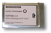 Avaya Partner Voice Messaging PCMCIA Card