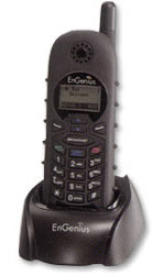 EnGenius 1X long range cordless phone system handset and charger