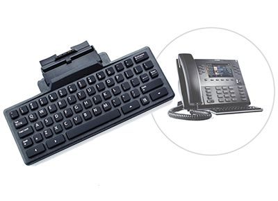 Mitel 6869 SIP phone with optional keyboard