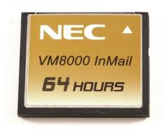 NEC SV8100 Voicemail VM8000 In Mail Compact Flash Card 1G 64 hours