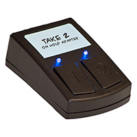 2-line MOH adapter for small office business phones with no message on hold input port
