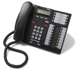 Norstar T7316 phone - Nortel charcoal (black) telephone headset