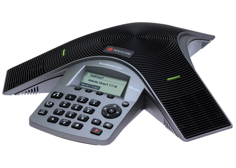 SoundStation Duo conference phone unit dual mode analog/IP audio conferencing telephone
