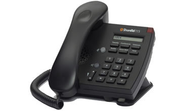 ShoreTel 115 IP phone black color 115 voip telephone