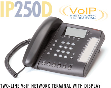 IP250D Voice over IP phones, two-line, Voice over IP phone sets, voip telephones, business, networks, Meridian, Mitel, Avaya, NEC, network terminals