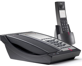Telematrix 9602MWD5 DECT cordless phone two-line 5 guest services buttons