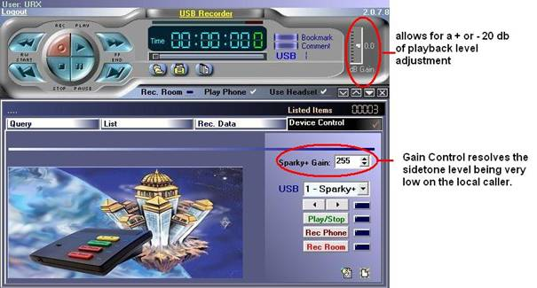 Sparky+ USB recorder software new volume features