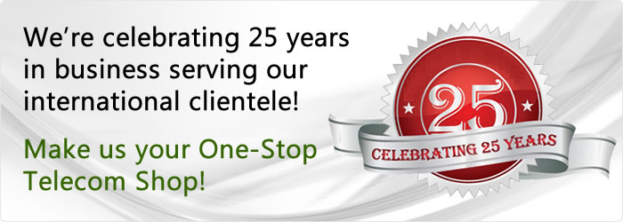 Celebrating 25 years of celling business phones, systems and accessories at wholesale prices to our international clientele!